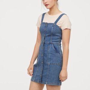 H&M DIVIDED DENIM BUTTON DOWN DRESS